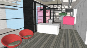 Mix of raw and slick for Pomegranate Consulting new City